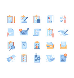 set minimalistic clipboard related essential vector image