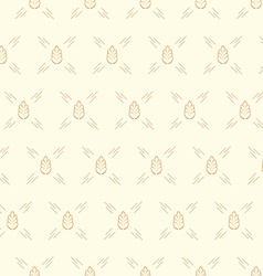 spica wheat seamless pattern vector image