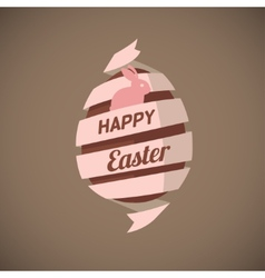 Spiral ribbon Easter egg vector image