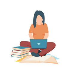 student flat icon vector image