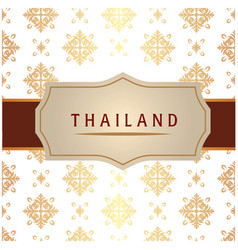 Thailand ribbon frame thai design white background vector
