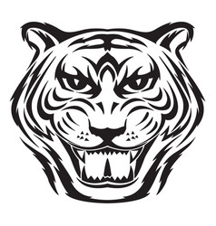 Tiger face tattoo vintage engraving vector