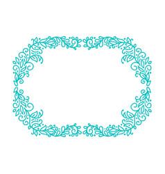 Turquoise monoline calligraphy flourish vector