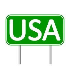 USA road sign vector image