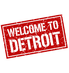 Welcome to detroit stamp vector