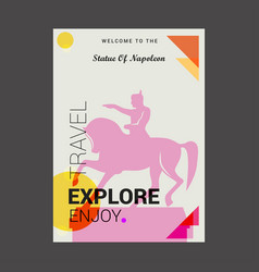 welcome to the statue of napoleon paris france vector image