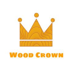 wooden texture crown vector image