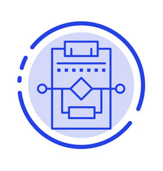 Workflow network process settings blue dotted vector