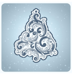 baroque style christmas tree vector image vector image