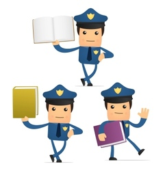 policeman with books vector image vector image