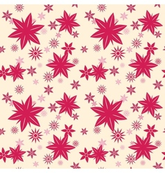 Purple Floral Seamless vector image