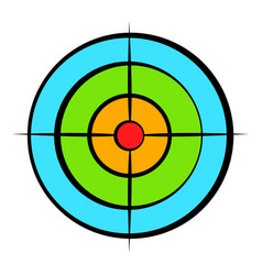 target with paintball ball icon cartoon vector image