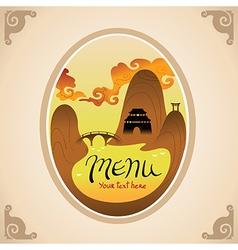 Template Design of Asian Menu vector image