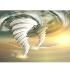 Tornado Swirls vector image