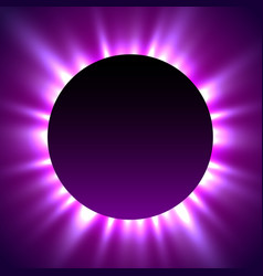 total eclipse of the sun eclipse magic background vector image vector image