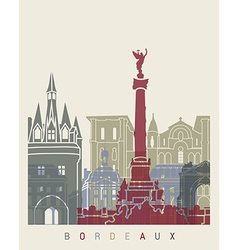 Bordeaux skyline poster vector image