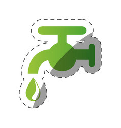 environment faucet water drop vector image