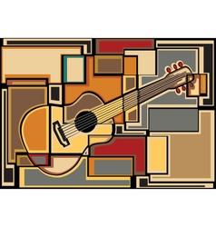 Guitar mosaic vector image vector image
