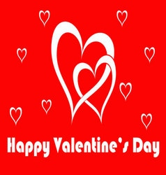 happy valentines card vector image