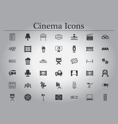 Movie cinema icons vector