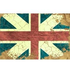 Vintage English flag vector image