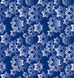 winter snowflakes pattern vector image vector image