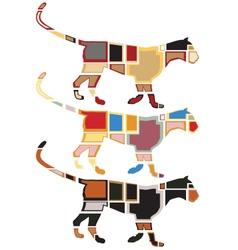 Leopard mosaics vector image vector image