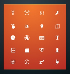 universal glyphs 14 phone symbols 3 vector image vector image