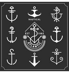 anchors set vector image vector image