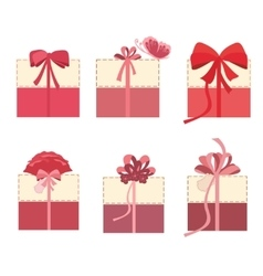 Beautiful gift boxes set vector image