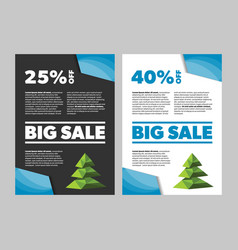 big sale new year or christmas banner vector image vector image