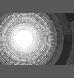black and white stack circle teachnology vector image
