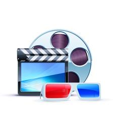 cinema 3d elements vector image vector image