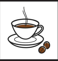 coffee cup for cuba travel destination and famous vector image vector image