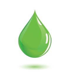 Green drop of poison or chemical vector image vector image
