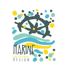 marine original logo design summer travel and vector image vector image