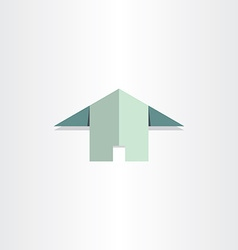 paper house flat home icon vector image vector image