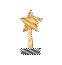 trophy star winner competition award icon vector image
