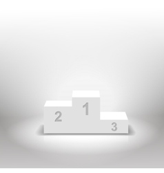 White winners podium for business concepts vector image