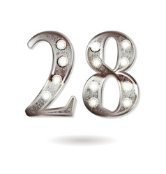 28 years anniversary celebration design vector image