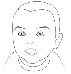 Adorable baby vector
