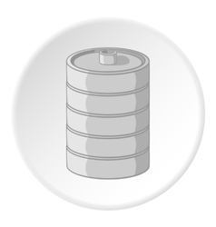 Aluminum barrel for beer icon cartoon style vector
