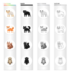 Animals wild domestic and other web icon in vector