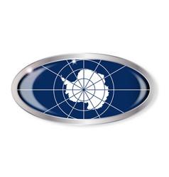 Antarctica flag oval button vector