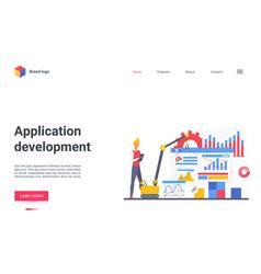 app development landing page vector image