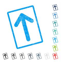 Arrow up icon rubber watermark vector