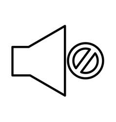 Audio off menu button vector
