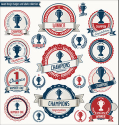 Award design badges and labels collection 2 vector