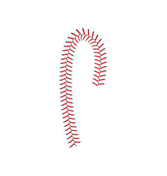 Baseball lace or red seam softball element vector