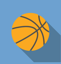 basketball with long shadow vector image
